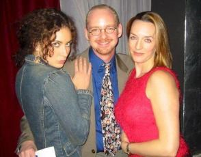Me with my best friend Laura (now a Tony Winner and huge TV star) and Julia (a huge Broadway star) at one of the first concerts I produced.