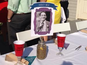 The head table was of course - the Harvey Milk table!